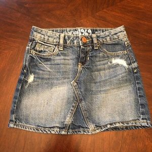 GAP Kids Distressed Denim Mini Skirt